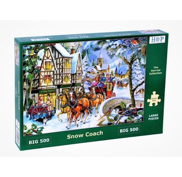 The House of Puzzles Snow Coach Puzzel 500 XL Stukjes