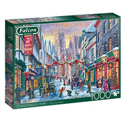 Falcon Christmas in York Puzzel 1000 Stukjes