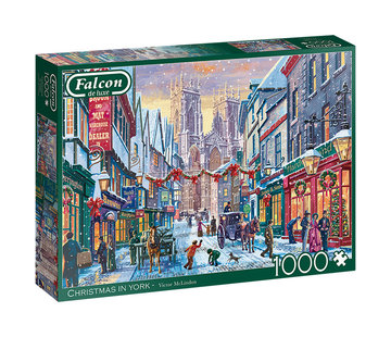 Falcon Christmas in York Puzzel 1000 Stukjes
