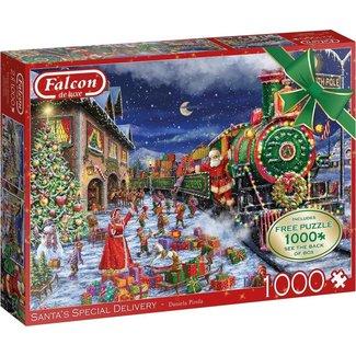 Falcon Santa's Special Delivery Puzzel 2x 1000 Stukjes