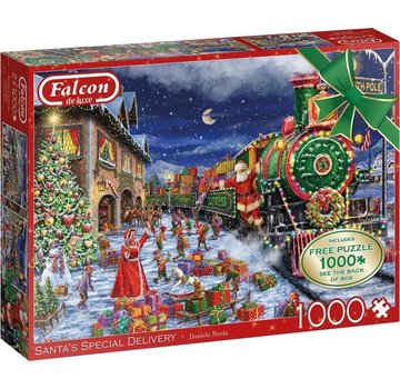 Falcon Père Noël Livraison spéciale 2x 1000 Puzzle Pieces