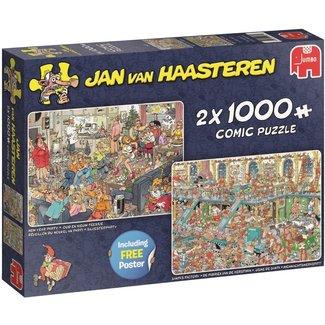 Jan van Haasteren Jan van Haasteren - Happy Holidays 2x 1000 Puzzleteile
