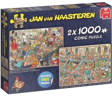 Jumbo Jan van Haasteren – Fijne Feestdagen Puzzel 2x 1000 Stukjes