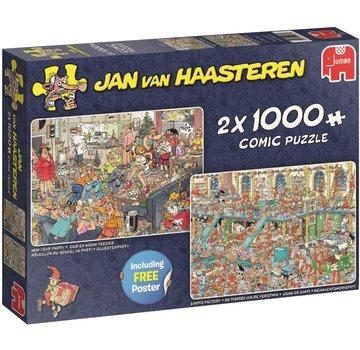 Jan van Haasteren Jan van Haasteren – Fijne Feestdagen Puzzel 2x 1000 Stukjes