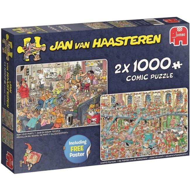 Jan van Haasteren Jan van Haasteren - Happy Holidays 2x 1000 Puzzle Pieces