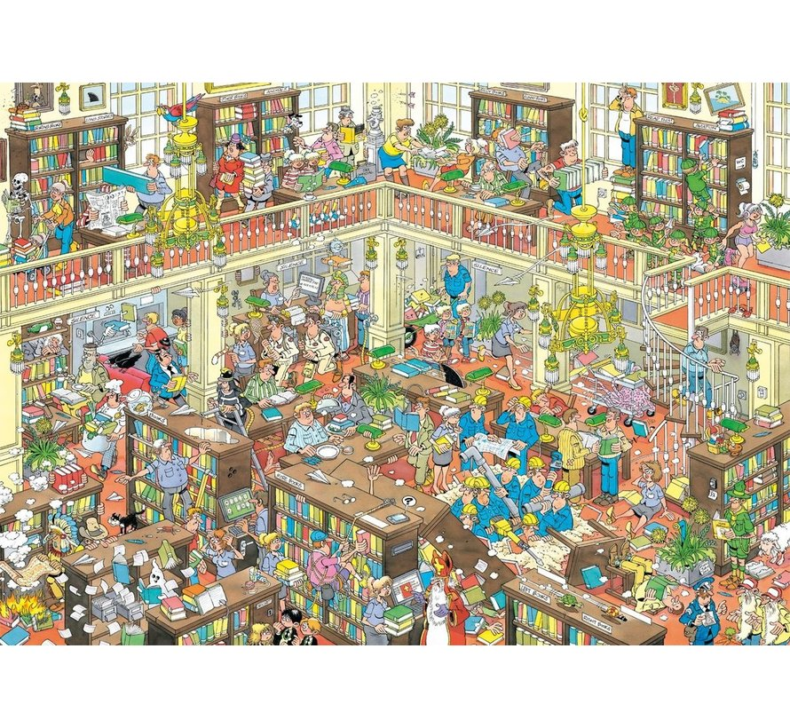 Jan van Haasteren – De Bibliotheek Puzzel 2000 Stukjes