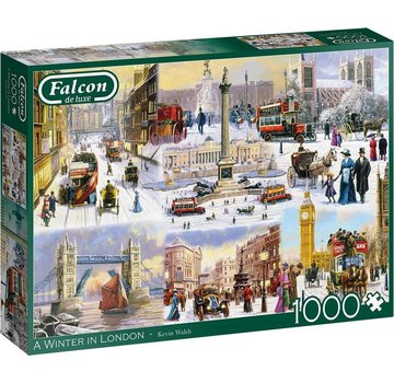 Falcon A Winter in London Puzzel 1000 Stukjes