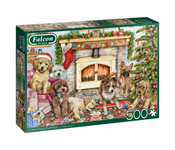 Falcon Christmas Puppies Puzzel 500 Stukjes