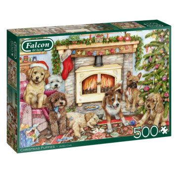Falcon Christmas Puppies Puzzle 500 Pieces