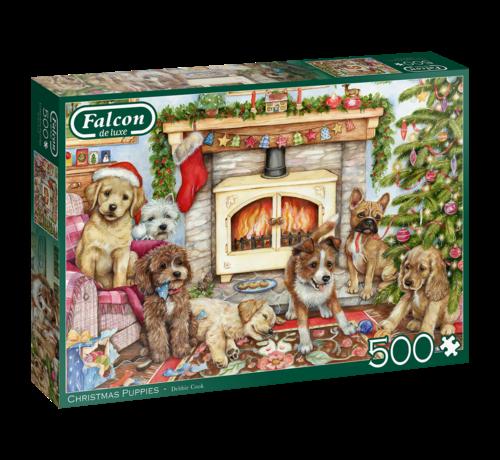 Falcon Christmas Puppies Puzzel 500 Stukjes