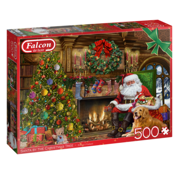 Falcon Santa by the Fire Place Puzzle 500 Pieces