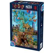 Dtoys Cartoon New York 1000 Puzzle Pieces