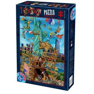 Dtoys Cartoon New York Puzzel 1000 Stukjes