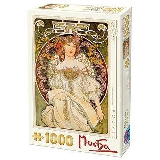 Dtoys Alphonse Mucha Puzzel 1000 Stukjes Mijmerij