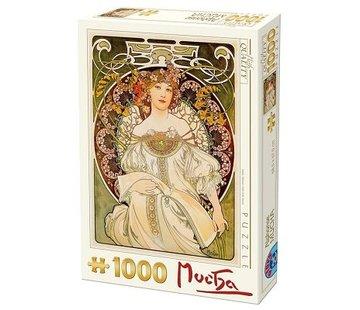 Dtoys Alphonse Mucha 1000 Puzzle Pieces Reverie