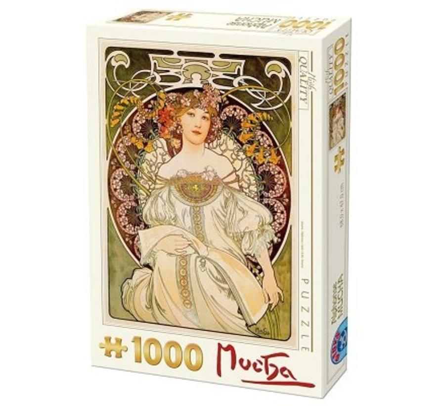 Alphonse Mucha Puzzel 1000 Stukjes Mijmerij