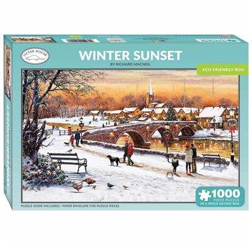 Otterhouse Winter Sunset Puzzel 1000 Stukjes