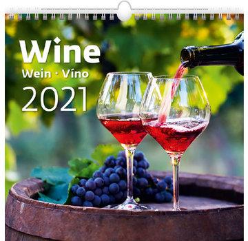 Helma Wandkalender 2021 Wijn 34 x 32.5 cm