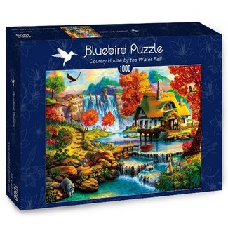 BlueBird Country House by the Water Fall Puzzel 1000 Stukjes