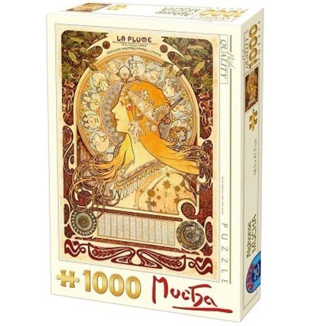 Dtoys Alphonse Mucha 1000 Puzzleteile Sternzeichen