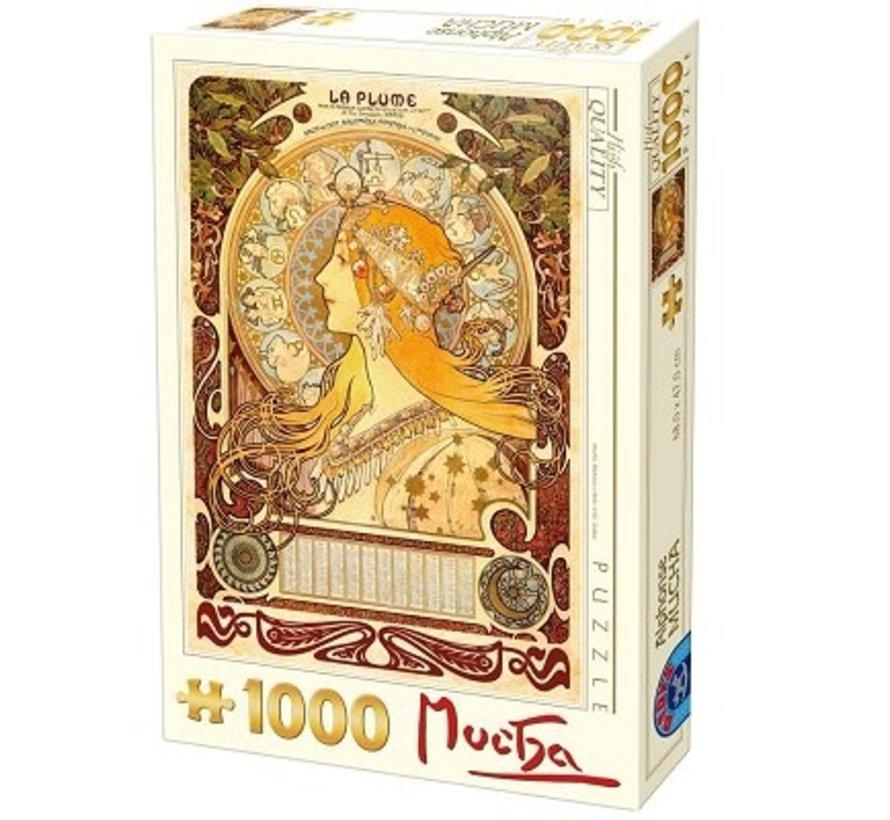 Alphonse Mucha 1000 Puzzle Pieces Sternzeichen