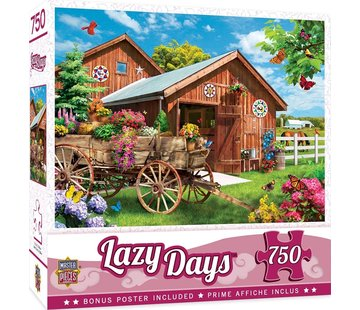 Master Pieces Lazy Days - Flying to Flower Farm Puzzel 750 Stukjes
