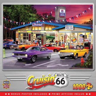 Master Pieces Route 66 Pittstop Puzzle-Stücke 1000