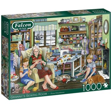 Falcon Granny's Sewing Room Puzzel 1000 Stukjes