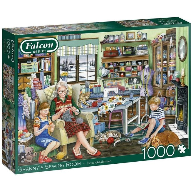 Falcon Granny's Sewing Room Puzzel 1000 Stukjes