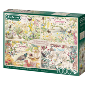 Falcon The Country Diary 4 Seasons Puzzle 1000 Pieces