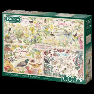 Falcon Das Land-Tagebuch 4 Jahreszeiten Puzzle 1000 Stück