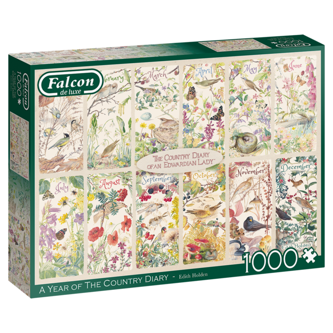 Falcon A Year of the Country Diary Puzzel 1000 Stukjes