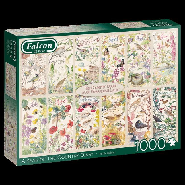 Falcon Ein Jahr des Land-Tagebuch 1000 Puzzle Pieces