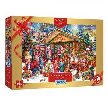 Gibsons Cette façon de Père Noël 1000 Puzzle Pieces