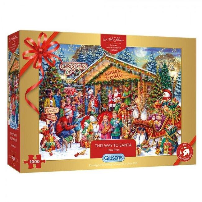 Gibsons Dieser Weg nach Santa 1000 Puzzle Pieces