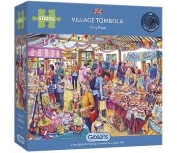 Gibsons Village Tombola 500 XL Puzzle Pieces