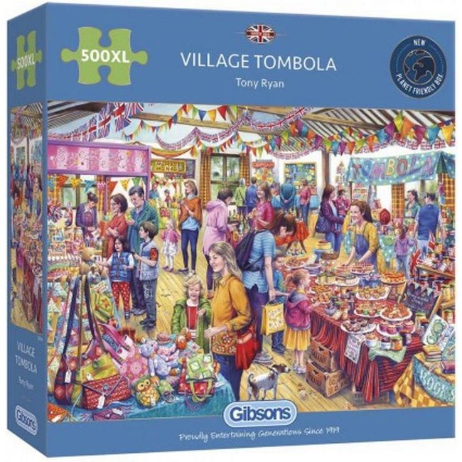 Gibsons Dorf Tombola 500 XL Puzzle Pieces