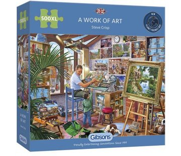 Gibsons A Work of Art Puzzel 500 XL Stukjes
