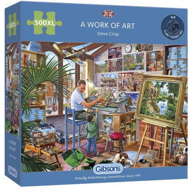 A Work of Art 500 XL Puzzle Pieces