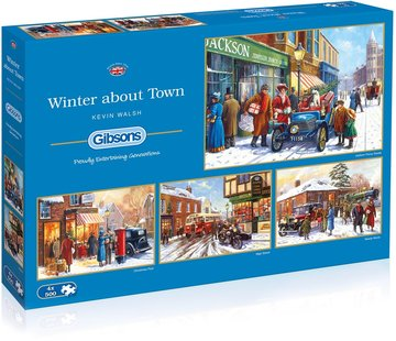 Gibsons Winter about Town Puzzel 4 x 500 Stukjes