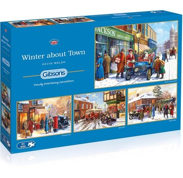 Gibsons Winter about Town Puzzle 4 x 500 Pieces