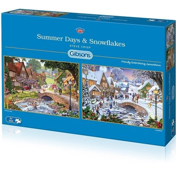 Gibsons Summer Days & Snowflakes 2x 500 Puzzle Pieces