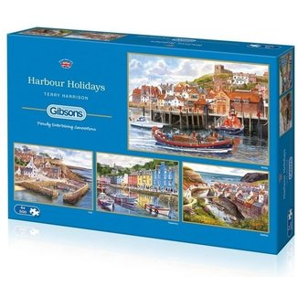 Gibsons Harbour Holidays Puzzel 4x 500 Stukjes