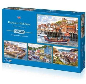 Gibsons Vacances Port 4x 500 Pièces Puzzle