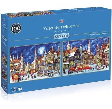 Gibsons Les livraisons Yuletide 2x 500 Puzzle Pieces