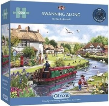 Gibsons Le long swanning 1000 Pièces Puzzle