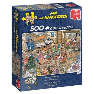 Jan van Haasteren Jan van Haasteren - Op het nieuwe Jaar Puzzel 500 Stukjes