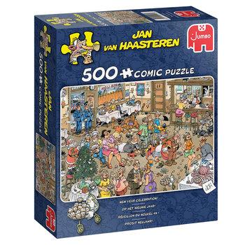 Jumbo Jan van Haasteren - Op het nieuwe Jaar Puzzel 500 Stukjes
