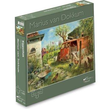 Art Puzzle Marius van Dokkum Kippenhok Puzzel 1000 Stukjes