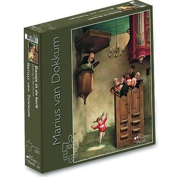 Art Revisited Marius van Dokkum dance in the Church 500 Puzzle Pieces